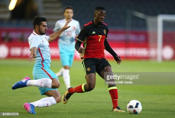 20170905 Leuven Belgium / Uefa U21 Euro 2019 Qualifying Belgium v Turkey / 'nAlperen BABACAN Isaac MBENZA'nPicture by Vincent Van Doornick / Isosport
