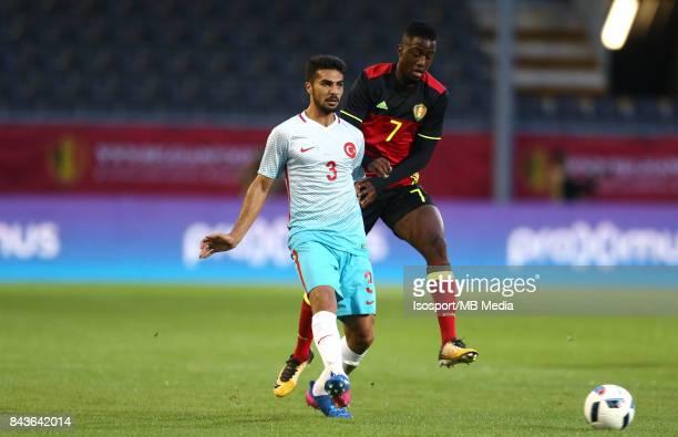 20170905 Leuven Belgium / Uefa U21 Euro 2019 Qualifying Belgium v Turkey / 'nMehmet Zeki CELIK Isaac MBENZA'nPicture by Vincent Van Doornick /...