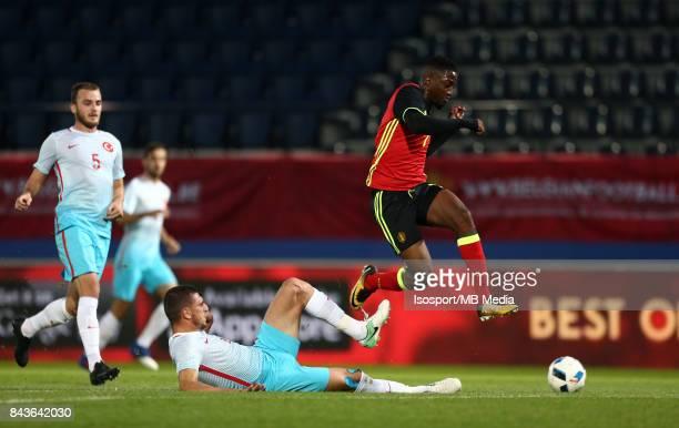 20170905 Leuven Belgium / Uefa U21 Euro 2019 Qualifying Belgium v Turkey / 'nMerih DEMIRAL Isaac MBENZA'nPicture by Vincent Van Doornick / Isosport