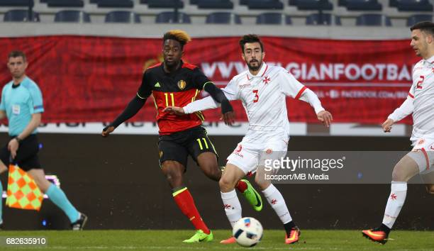 20170327 Leuven Belgium / Uefa U21 Euro 2019 Qualifying Belgium vs Malta / Isaac MBENZA Kurt ZAMMIT Picture by Vincent Van Doornick / Isosport