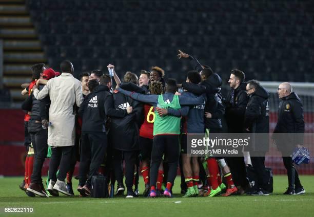 20170327 Leuven Belgium / Uefa U21 Euro 2019 Qualifying Belgium vs Malta / Vreugde Joie Celebration Picture by Vincent Van Doornick / Isosport