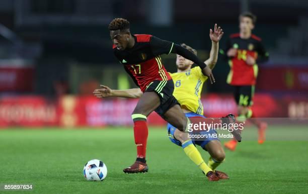 20171006 Leuven Belgium / Uefa U21 Euro 2019 Qualifying Group 5 Belgium v Sweden / 'nAaron LEYA ISEKA'nPicture by Vincent Van Doornick / Isosport