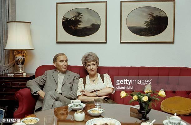 Leuwerik Ruth Actress Germany with husband Heinz Purper around 1971