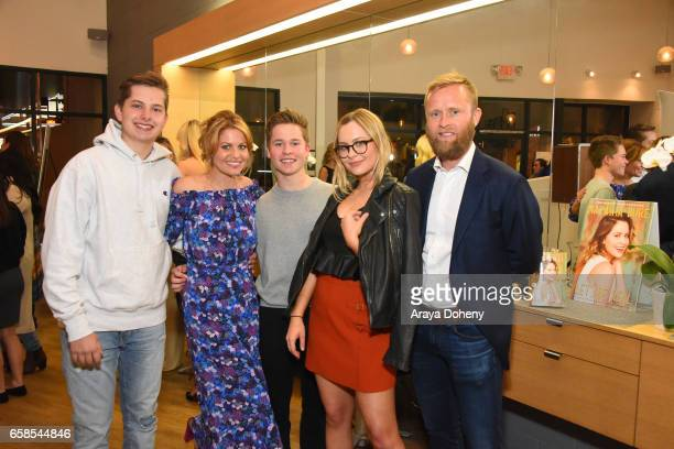 Lev Bure Candace Cameron Maksim Bure Natasha Bure and Valeri Bure attend Natasha Bure 'Let's Be Real' Los Angeles book launch party at Eden By Eden...