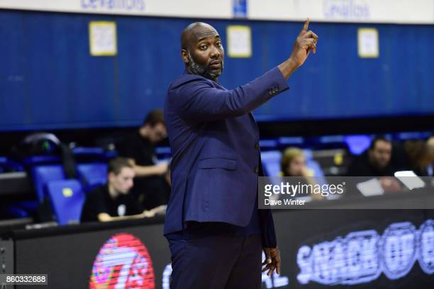 Levallois assistant coach Sacha Giffa during the EuropCup match between Levallois Metropolitans and Darussafaka Istanbul at Salle Marcel Cerdan on...