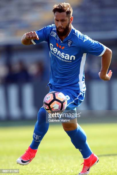 Levan Mchedlidze of Empoli Fc in action during the Serie A match between Empoli FC and Pescara Calcio at Stadio Carlo Castellani on April 8 2017 in...