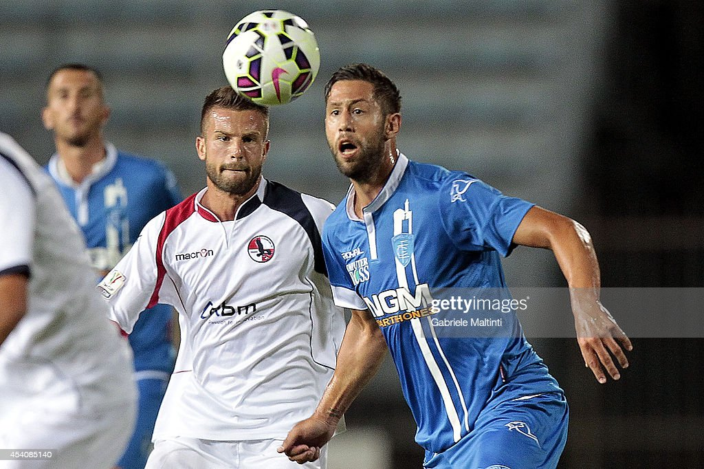 Levan Mch'edlidze of Empoli FC in action during the TIM Cup match between Empoli FC and L'Aquila Calcio at Stadio Carlo Castellani on August 24, 2014 in Empoli, Italy.