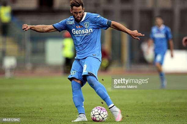 Levan Mchedlidze of Empoli FC in action during the TIM Cup match between Empoli FC and Vicenza Calcio at Stadio Carlo Castellani on August 15 2015 in...
