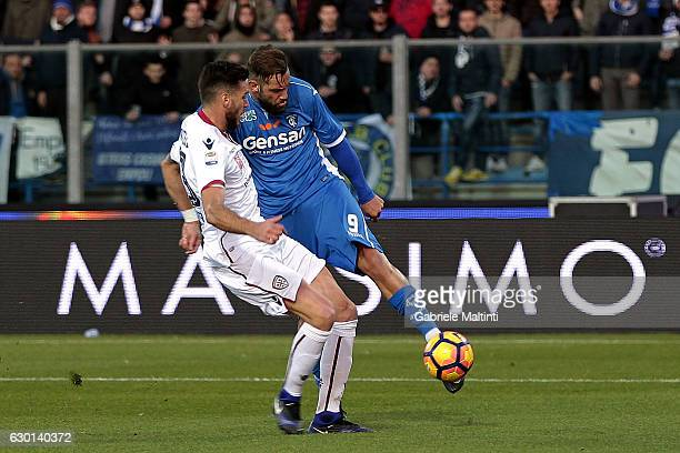 Levan Mchedlidze of Empoli FC scores a goal during the Serie A match between Empoli FC and Cagliari Calcio at Stadio Carlo Castellani on December 17...