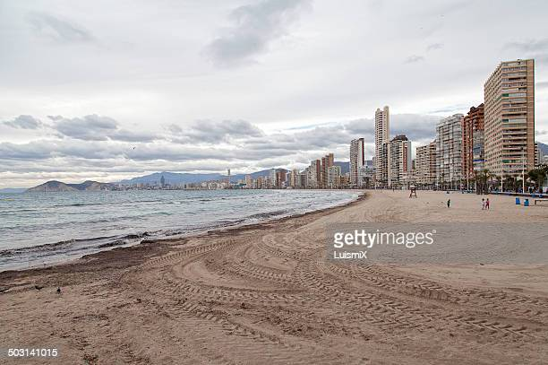 Levante beach in winter