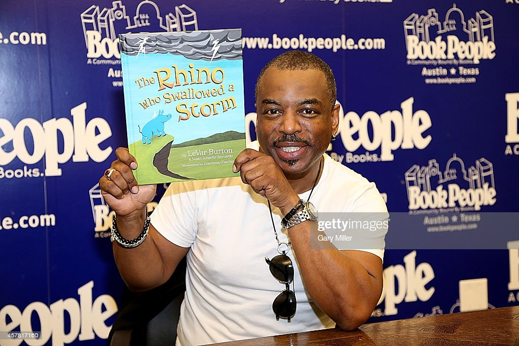 """LeVar Burton Signs Copies Of His Book """"The Rhino Who Swallowed A Storm"""""""