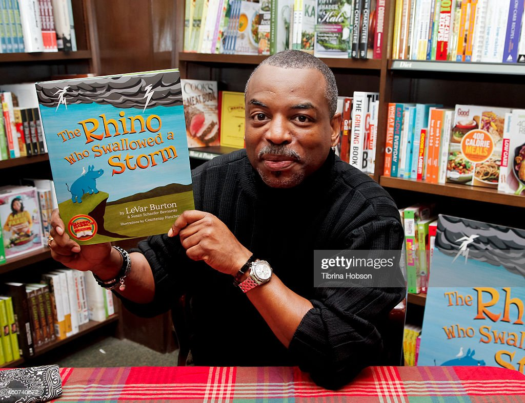 """LeVar Burton Signs And Discusses His Book """"The Rhino Who Swallowed A Storm"""""""