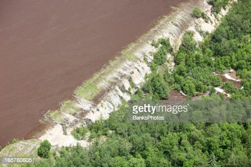 Levee Breached by Floodwater