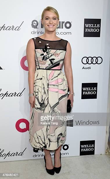 Leven Rambin arrives for the 22nd Annual Elton John AIDS Foundation's Oscar Viewing Party held at West Hollywood Park on March 2 2014 in West...
