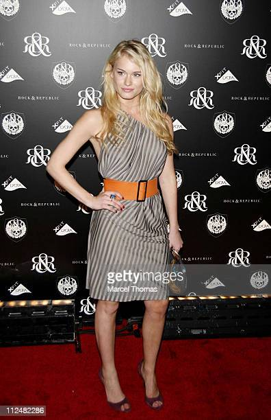 Leven Rambin during Olympus Fashion Week Spring 2007 Rock Republic Red Carpet and Front Row at Cipriani in New York City New York United States