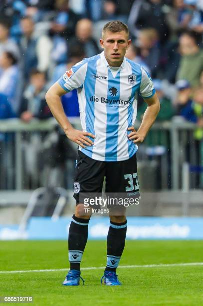 Levent Aycicek of 1860 Munich looks dejected during the Second Bundesliga match between TSV 1860 Muenchen and VfL Bochum at Allianz Arena on May 14...