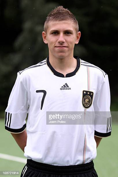 Levent Aycicek of the U17 National Team poses during a photocall on August 30 2010 in Barsinghausen Germany