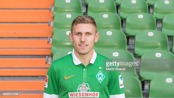 Levent Aycicek pose during the official team photo at Weserstadion on September 14 2014 in Bremen Germany