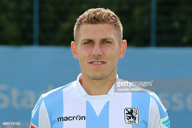 Levent Aycicek poses during the official team presentation of TSV 1860 Muenchen at Trainingsgelaende on July 22 2016 in Munich Germany