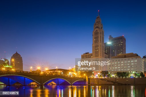 LeVeque Tower at night
