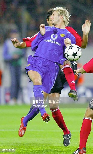 LEAGUE 02/03 Leverkusen BAYER 04 LEVERKUSEN MANCHESTER UNITED david BECKHAM/UNITED Boris ZIVKOVIC/BAYER