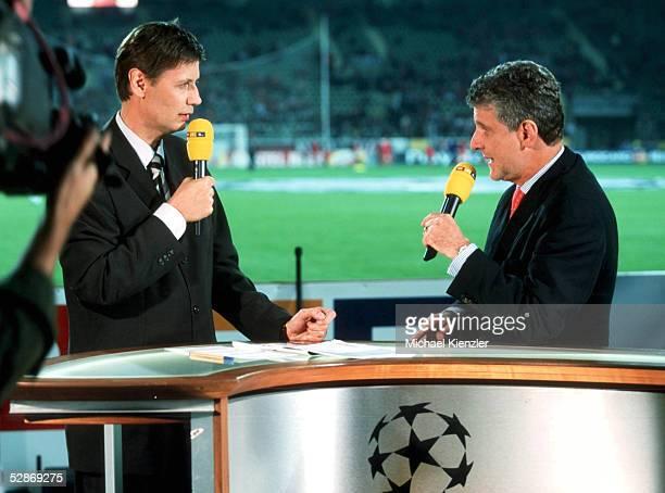 LEAGUE 00/01 Leverkusen BAYER O4 LEVERKUSEN REAL MADRID 23 Guenther JAUCH Marcel REIF