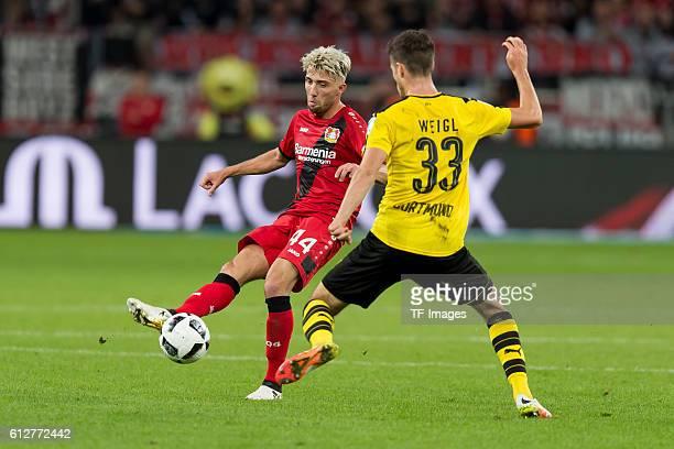 Leverkusen Germany 1Bundesliga 6 Spieltag Bayer 04 Leverkusen BV Borussia Dortmund 20 Kevin Kampl gegen Julian Weigl