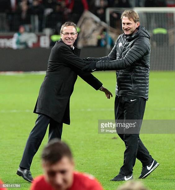 Leverkusen Germany 1 Bundesliga 11 Spieltag Bayer 04 Leverkusen RB Leipzig Cheftrainer Ralph Hasenhuettl mit Ralf Rangnick