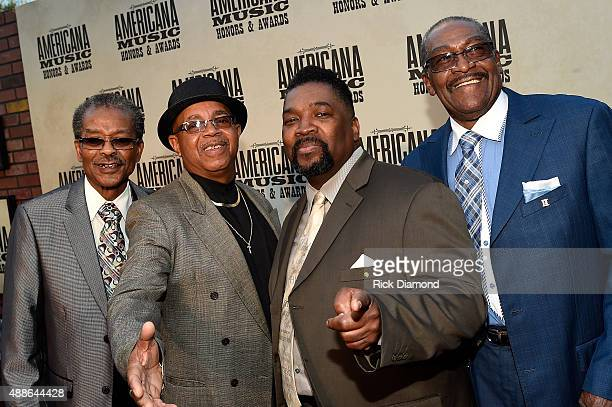 Levert Allison Bobbye Sherrill Larrice Byrd Sr and Joe Thompson of the Fairfield Four attend the 14th annual Americana Music Association Honors and...