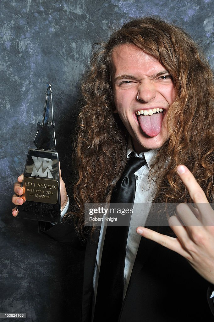 Levi Benton portraits after he received the 'Metal Male Star of Tomorrow' award at the Vegas Rocks! Magazine Awards 2012 at the Joint at the Hard Rock Hotel and Casino on August 26, 2012 in Las Vegas, Nevada.