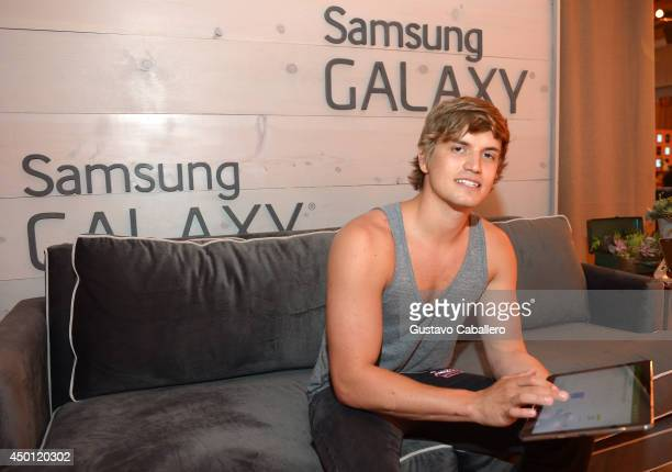 Levi Hummon at the Samsung Galaxy Artist Lounge at the 2014 CMA Music Festival on June 5 2014 in Nashville Tennessee