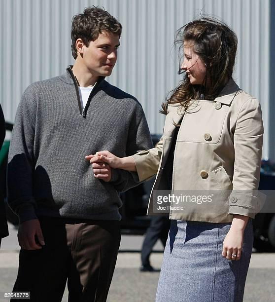 Levi Johnston and his girlfriend Bristol Palin daughter of vicepresidential candidate Alaska Gov Sarah Palin as presumptive Republican presidential...