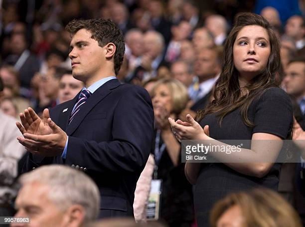 Levi Johnston stands with his girlfriend Bristol Palin daughter of vice presidential candidate Gov Sarah Palin RAlaska at the Republican National...