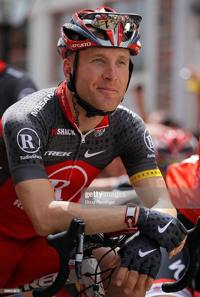 <a gi-track='captionPersonalityLinkClicked' href=/galleries/search?phrase=Levi+Leipheimer&family=editorial&specificpeople=236122 ng-click='$event.stopPropagation()'>Levi Leipheimer</a> of the USA and riding for Team Radio Shack prepares for the start of Stage One of the 2010 Tour of California from Nevada City to Sacramento on May 16, 2010 in Nevada City, California.