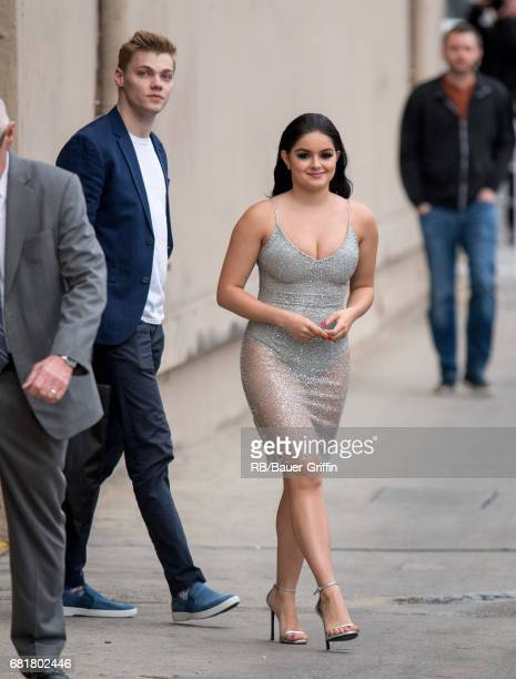 Levi Meaden and Ariel Winter are seen at 'Jimmy Kimmel Live' on May 10 2017 in Los Angeles California