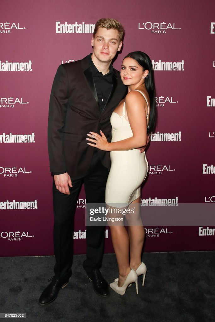 Levi Meaden (L) and Ariel Winter attend the Entertainment Weekly's 2017 Pre-Emmy Party at the Sunset Tower Hotel on September 15, 2017 in West Hollywood, California.