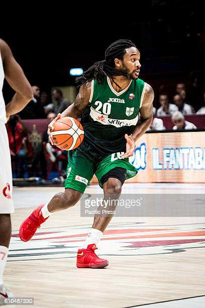 Levi Randolph drives to the basket during the final of Macron Supercoppa 2016 basketball match between Sidigas Avellino vs EA7 Emporio Armani Milano...