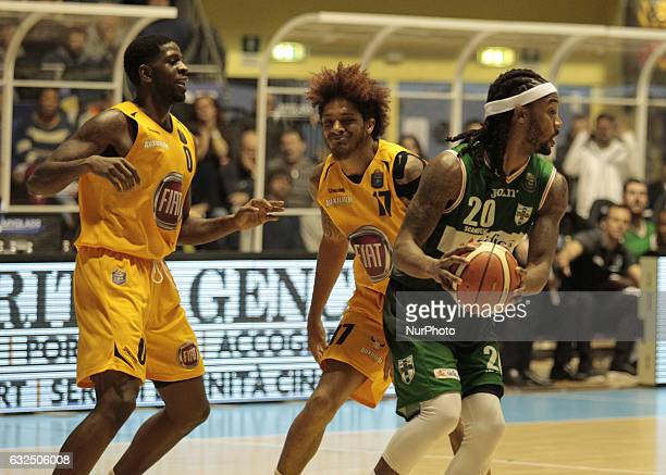 Levi Randolph during Italy Lega Basket of Serie A match between Fiat Torino v Sidigas Avellino in Turin on january 22 2017