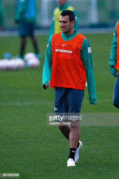 Levin Oeztunali attends a training session during day one of Werder Bremen training camp on January 6 2015 in Belek Turkey