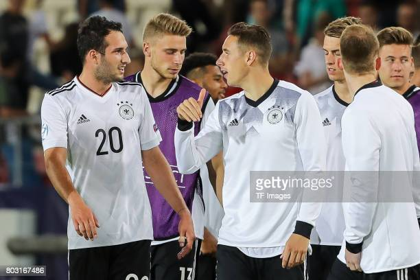 Levin Oeztunali of Germany Dominik Kohr of Germany during the UEFA European Under21 Championship Group C match between Germany and Denmark at Krakow...