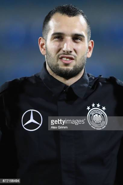 Levin Oeztunali of Germany looks on prior to the UEFA Under21 Euro 2019 Qualifier match between Azerbaijan U21 and Germany U21 at Dalga Arena on...