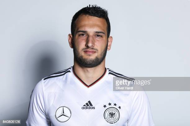 Levin Oeztunali of Germany poses for the Germany U21 Team Presentation on August 29 2017 in Harsewinkel Germany