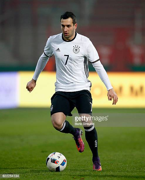 Levin Oeztunali of Germany runs with the ball during the U21 International Friendly match between U21 Germany and U21 Turkey at Stadion An der Alten...