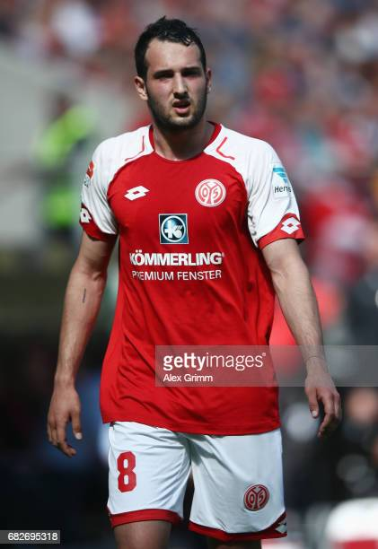 Levin Oeztunali of Mainz reacts during the Bundesliga match between 1 FSV Mainz 05 and Eintracht Frankfurt at Opel Arena on May 13 2017 in Mainz...