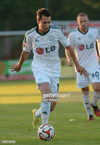 Levin Oztunali of Bayer Leverkusen in action during the friendly match between Bayer Leverkusen and Olympique Marseille on July 19 2014 in Seekirchen...