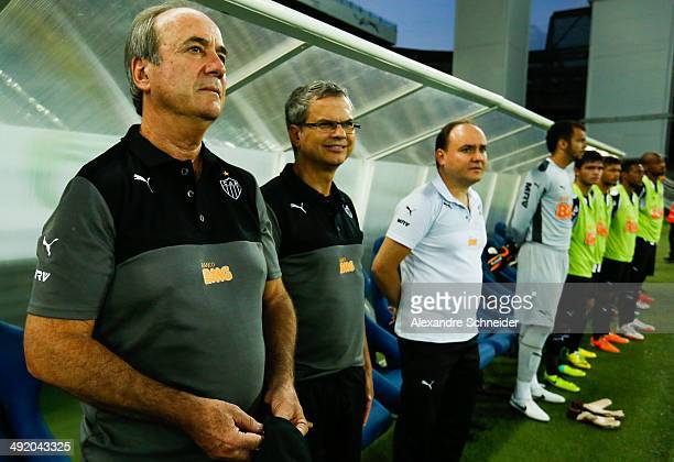 Levir Culpi coach of Atletico before the match between Santos and Atletico MG for the Brazilian Series A 2014 at Arena Pantanal on May 18 2014 in...