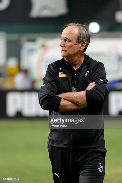 Levir Culpi coach of Atletico MG observes a match between Atletico MG and Internacional as part of Brasileirao Series A 2014 at Independencia stadium...