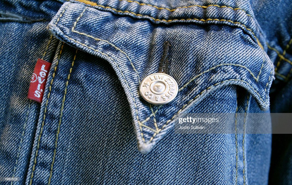 Levi's jacket is seen on display at the new Levi Strauss Company Visitor center May 7 2003 in San Francisco California On the 150th anniversary of...