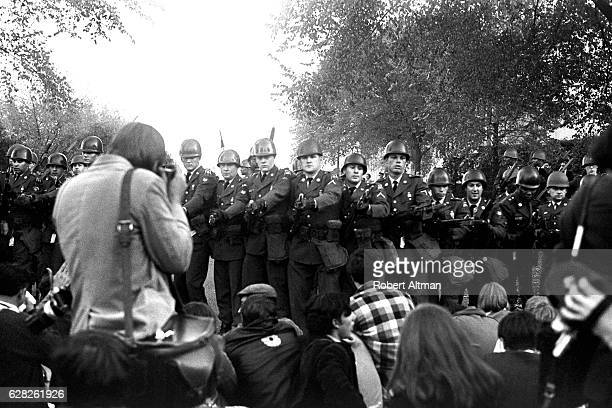 'Levitate the Pentagon' 70000 demonstrators rally during an AntiWar Protest on October 21 1967 in Washington DC