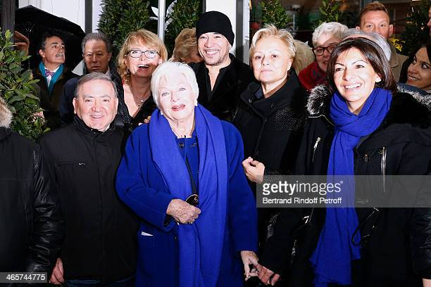 Levon Sayan Claude Chirac singer Line Renaud singer Pascal Obispo humorist Muriel Robin and first assistant of the Mayor of Paris Anne Hidalgo attend...